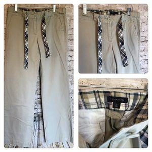 Tommy Hilfiger Khaki Pants With Belt Size 10